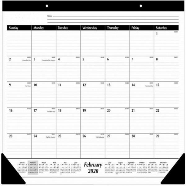 "Racdde 2020 Desk Calendar, Desk Pad, 21-3/4"" x 17"", Standard, Ruled Blocks (SK2400)"