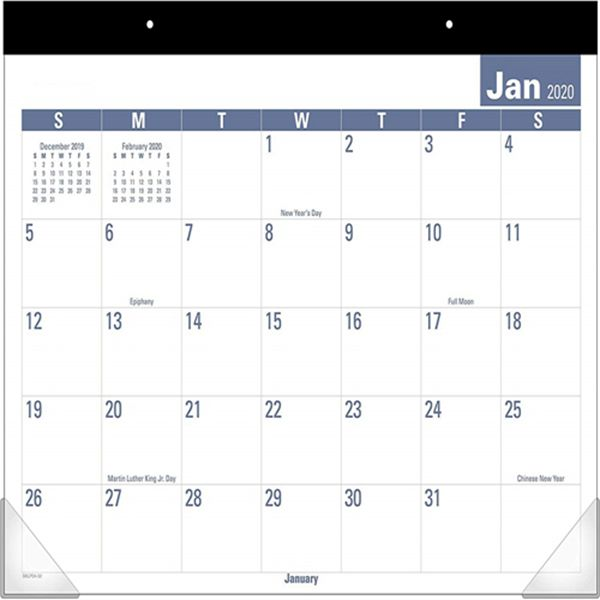 "Racdde 2020 Desk Calendar, Desk Pad, 21-3/4"" x 17"", Standard, Easy to Read (SKLP2432)"