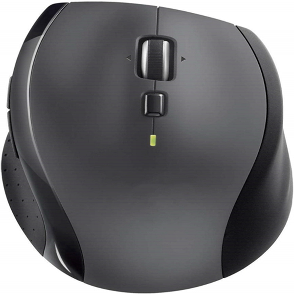 Racdde M705 Marathon Wireless Mouse – Long 3 Year Battery Life, Ergonomic Sculpted Right-Hand Shape, Hyper-Fast Scrolling and USB Unifying Receiver, for Computers and laptops, Dark Gray
