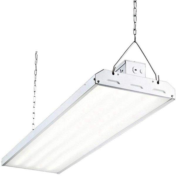 Racdde LED High Bay Shop Light, 4FT 223W 135LM/W Linear LED Industrial Workshop Light, Warehouse Aisle Area Light 30105lm, 5000K, 4 Lamp Fluorescent Equivalent, 1-10V Dim, UL, DLC Premium Complied