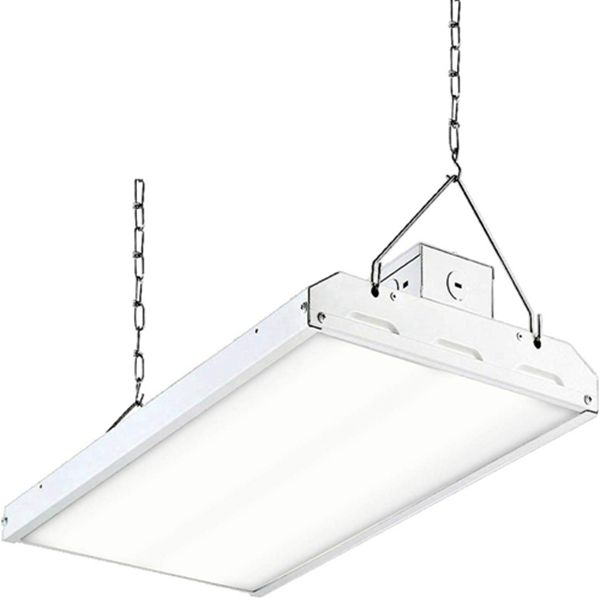 Racdde  LED High Bay Shop Light, 2FT 110W 135LM/W Linear LED Industrial Workshop Light, Warehouse Aisle Area Light 14850lm, 5000K, 4 Lamp Fluorescent Equivalent, 1-10V Dim, UL, DLC Premium Complied