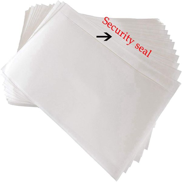 """Racdde 7.5"""" x 5.5"""" Clear Adhesive Top Loading Packing List, Label Envelopes Pouches - 100 Packs"""