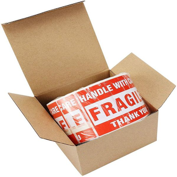 Racdde Fragile Stickers 3'' x 5'' 1 Roll 500 Labels Fragile - Handle with Care - Thank You Shipping Labels Stickers (500 Labels/Roll)