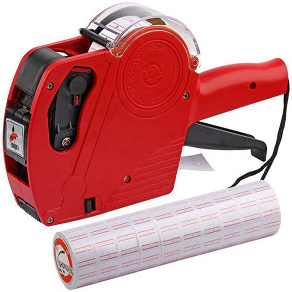 Racdde MX5500 EOS Red 8 Digits Pricing Gun Kit with 7,000 Labels & Spare Ink