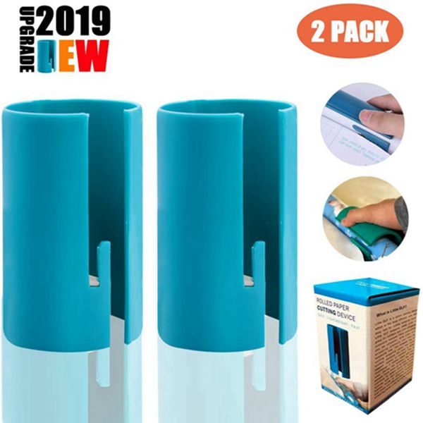 Racdde【 2019 Upgrade】Wrapping Paper Cutter, Mini Portable Small Utility Wrapped Carton Paper Cutter Kraft Craft Paper Roll Sliding Line Cut Trimmer for Christmas Birthday, Easy Quick, Creative Sliding Pape