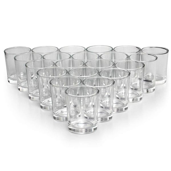 Racdde Glass Votive Candle Holders Set of 72 - Clear Tealight Candle Holder Bulk - Ideal for Wedding Centerpieces & Home Decor