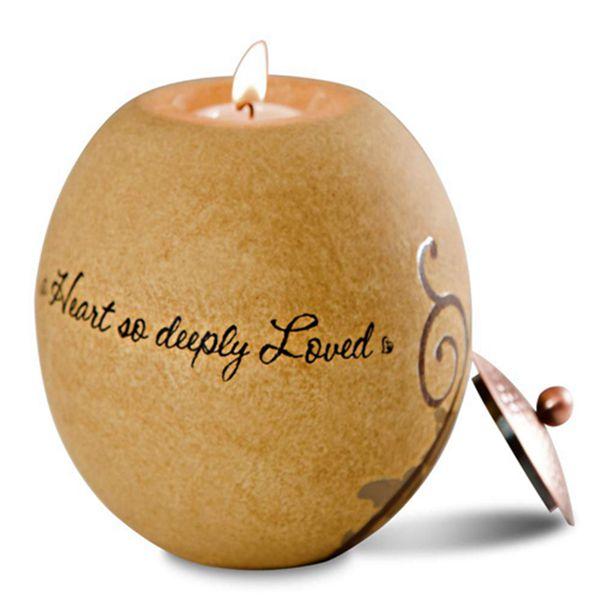 Racdde Comfort Candles 5-Inch Round Tea Light Holder, in Memory