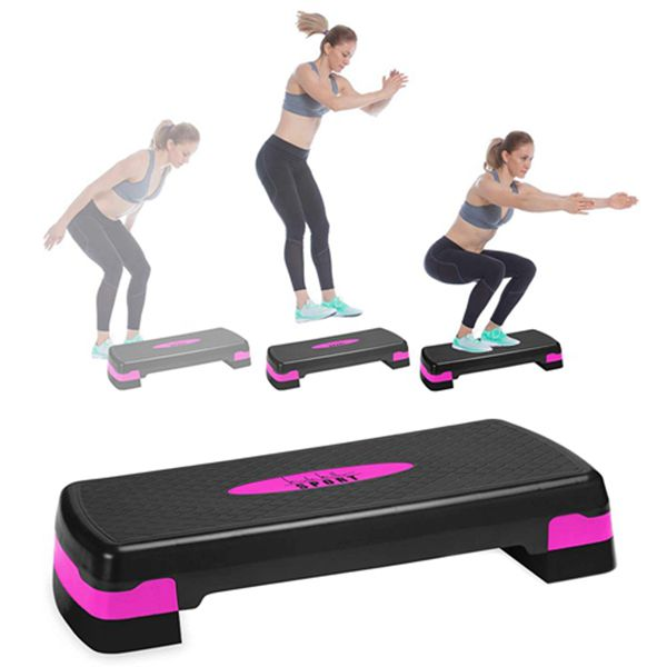Racdde Aerobic Exercise Step Deck, Adjustable Workout Fitness Stepper Exercise Platform with Risers