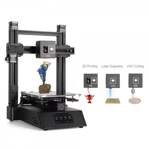 Racdde CP-01 3-in-1 Smart Module Machine 3D Printer Support CNC Cutting + Laser Engraving - EU Plug