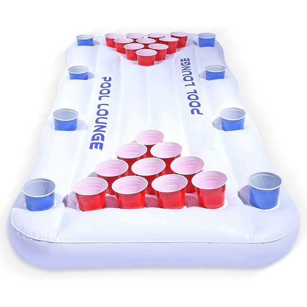 Racdde Pool Lounge Floating Beer Pong Table Inflatable with Social Floating
