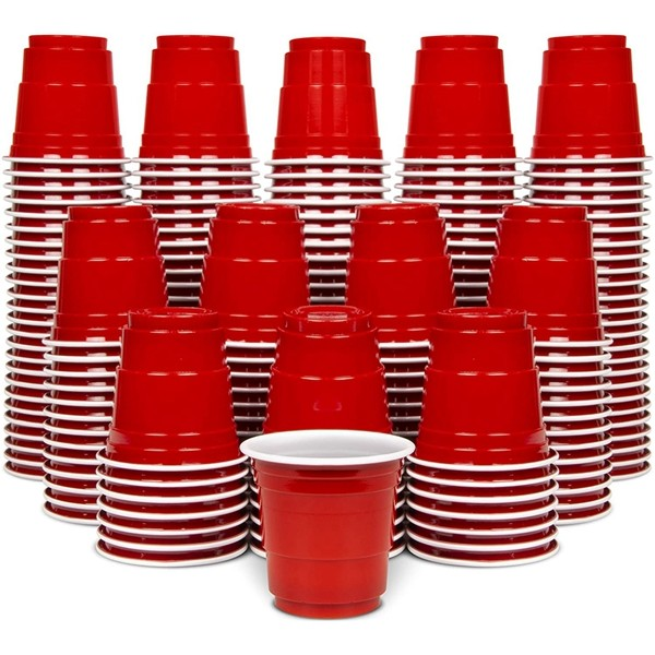 Racdde 2oz Plastic Shot Cups | Pack of 200 | Disposable Mini 2oz Party Cups