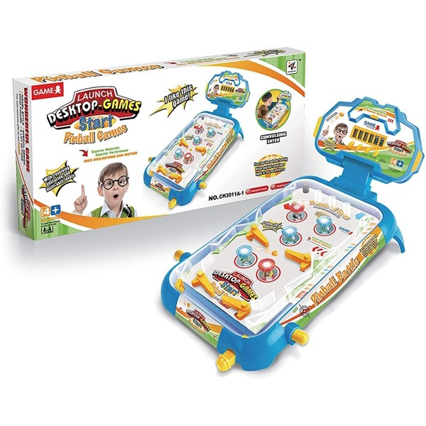 Tabletop Pinball Machine Game by Racdde Arcade Game Toy for Kids Ages 3+
