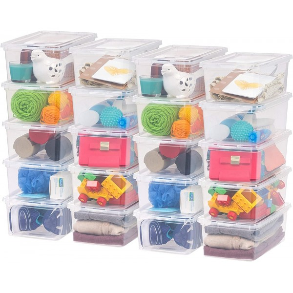 Racdde CNL-5 Storage Box, 5 Quart, Clear, 20 Pack