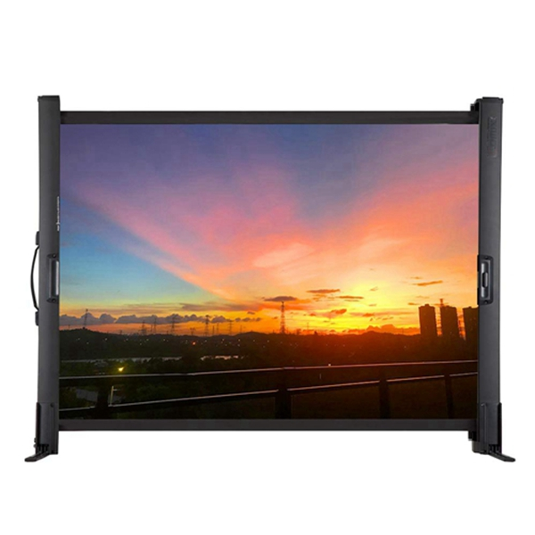 racdde Projector Screen Indoor Outdoor Foldable Table Screen with 50 Inch HD 4:3 Projection Movie Screen