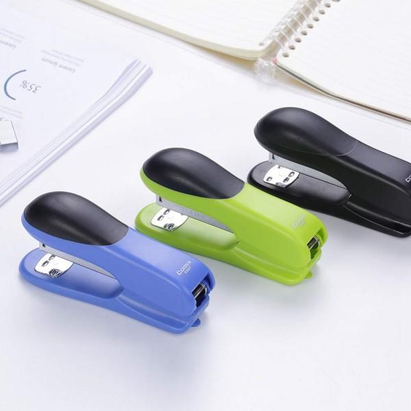 racdde Stapler,  Office Desktop Stapler with 25 Sheets Capacity, 1 Set for Manual Stapler, Staples Remover and 640 Staples (ED35) (Black)