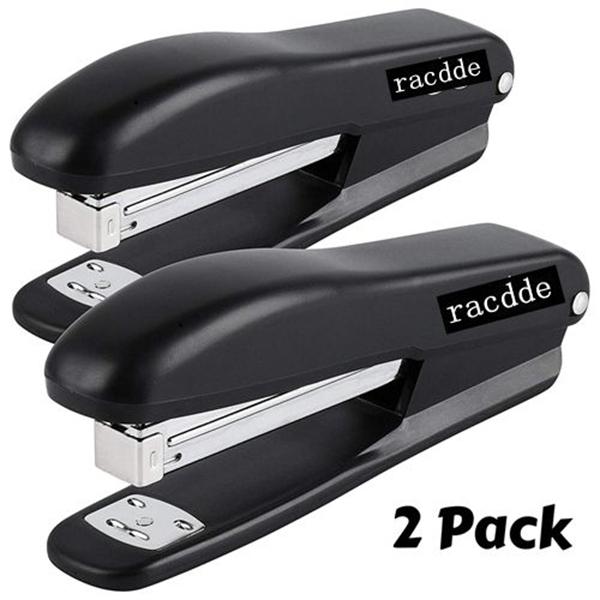 racdde  Stapler, 2 Staplers with 200 Staples, 20 Sheet Stapler, Desk Stapler, Office Staplers, Staples for Stapler, Office Supplies, Standard Stapler, Stapler with Staples, One Touch Stapler, Staple