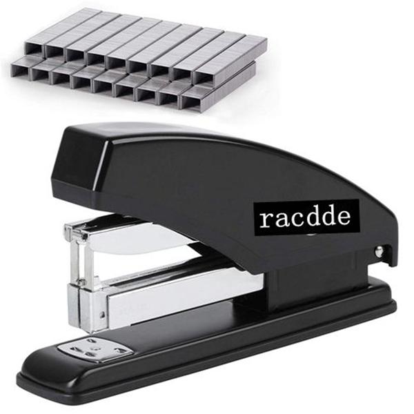 racdde Stapler, Heavy Duty Stapler, Stapler with 3600 Staples, 60 Sheet Capacity, Desk Stapler, Office Staplers, Office Supplies, Standard Stapler, Stapler with Staples, One Touch Stapler, Staplers