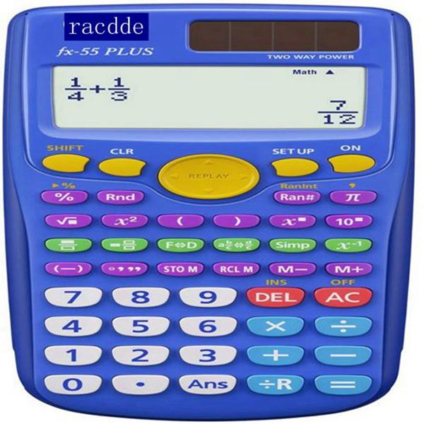 RACDDE  fx-55 PLUS Elementary/Middle School Fraction Calculator