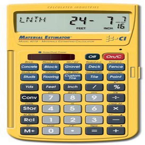 Racdde 4019 Material Estimator Calculator
