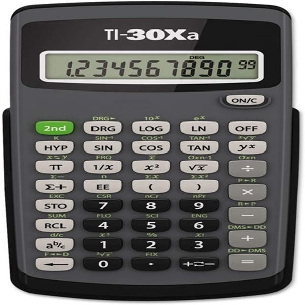 Racdde TI30XA Scientific Calculator - 10 Character(s) - Battery Powered - 6 x 3.1 x 0.8 - Black