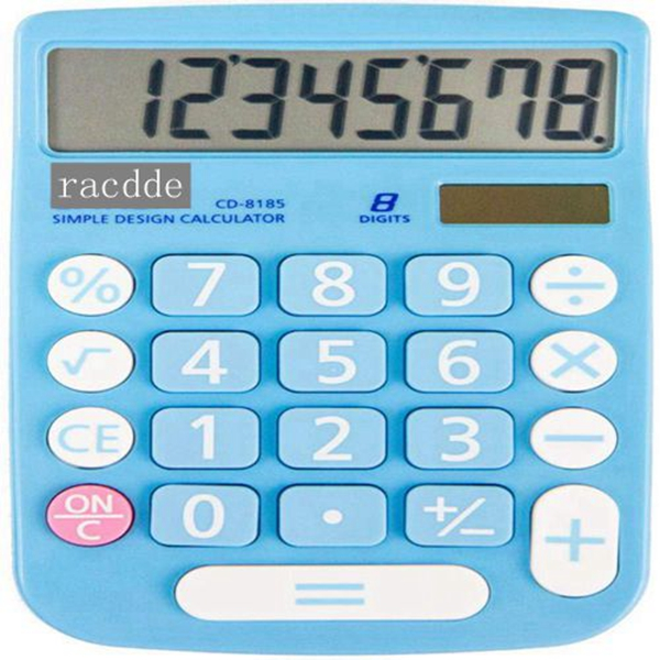 Racdde CD-8185 Office and Home Style Calculator – 8-Digit LCD Display – Suitable for Desk and On The Move use. (Blue)