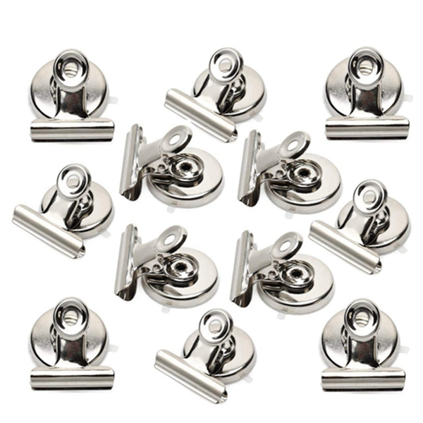Racdde Strong Magnetic Clips - Heavy Duty Refrigerator Magnet Clips - 31mm Wide Scratch Safe - Clip Magnets Best for House Office School Use, Hanging Home Decoration, Photo Displays(12Pack