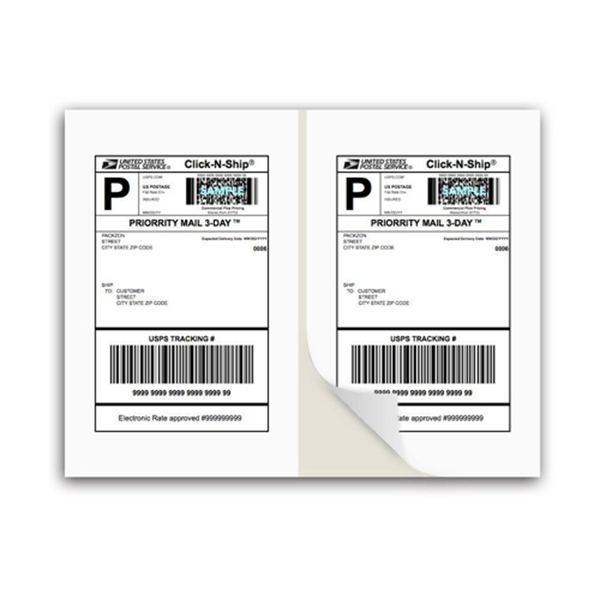 Racdde Shipping Labels with Self Adhesive, Square Corner, for Laser & Inkjet Printers, 8.5 x 5.5 Inches, White, Pack of 200
