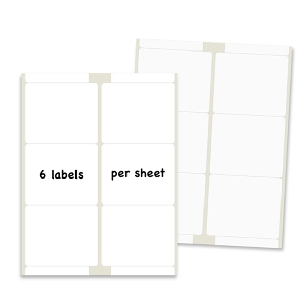 Racdde Shipping Labels for Laser & Inkjet Printers, 3-1/3 x 4 Inch Self Adhesive Labels 6 Up (600 Labels / 100 Sheets)