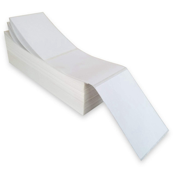 Racdde 4x6 Fanfold Direct Thermal Shipping Labels (Fanfold 4000 Labels)