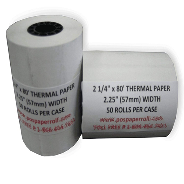 """Racdde 2 1/4"""" x 80' Thermal Paper (50 Rolls), Works for Verifone Printer Tranz 420, Verifone Vx510, Verifone Vx510LE, Verifone Vx570"""