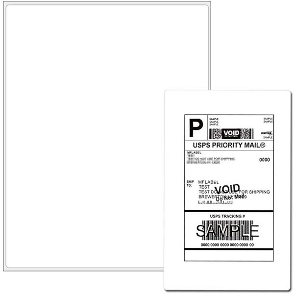 "Racdde Full Sheet Address Shipping Labels - 8-1/2"" x 11"" - 100 Labels"