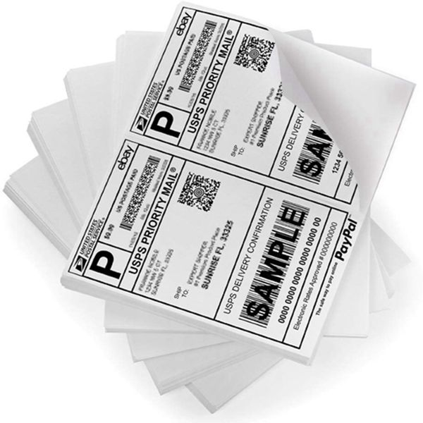 Racdde PackingSupply Shipping Labels with Self Adhesive, for Laser & Inkjet Printers, 8.5 x 5.5 Inches, White, Pack of 1000 Labels