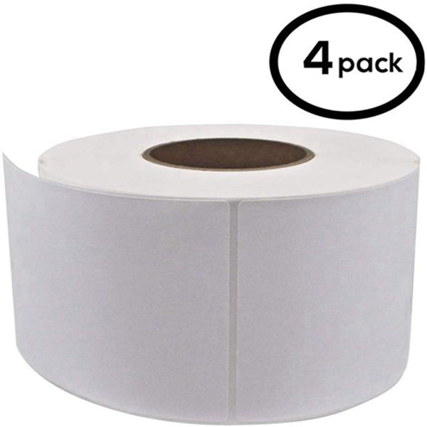 "Racdde 4""x 6"" Direct Thermal Labels (4 Rolls, 4000 Labels) - 3'' Core, Perforations Between Labels - Zebra Compatible"
