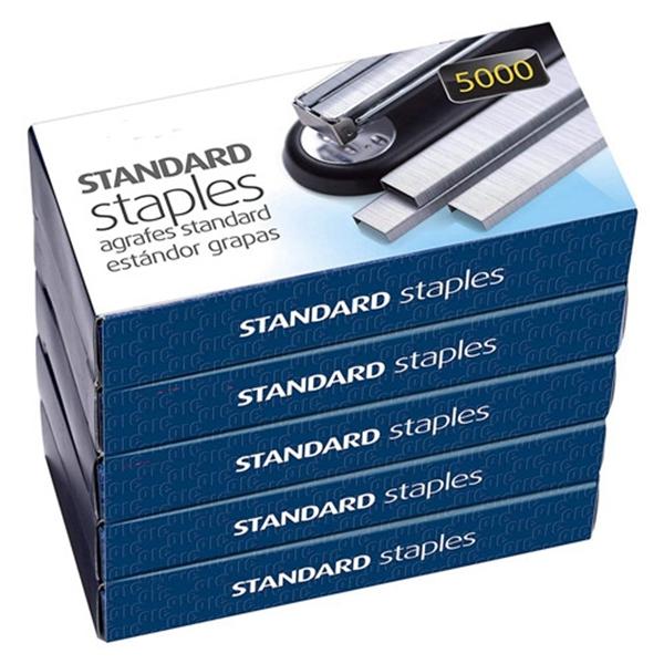Racdde Standard Staples, 5 Boxes General Purpose Staple (91925)