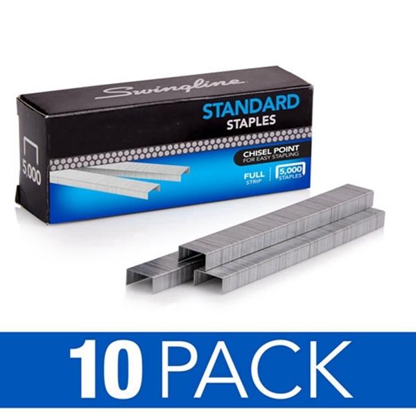 """Racdde Staples, Standard, 1/4"""" Length, 210/Strip, 5000/Box, 10 Pack (35111)"""