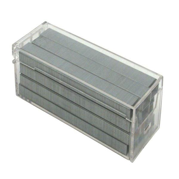Racdde Premium Standard Staples in Clear Plastic Box, 1/4 Inch Leg, 5,000 Per Box (SB10)