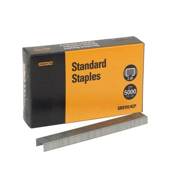 Racdde Premium Standard Staples, Full-Strip, 0.25 Inch Leg, 5,000 per Box (SBS191/4CP)