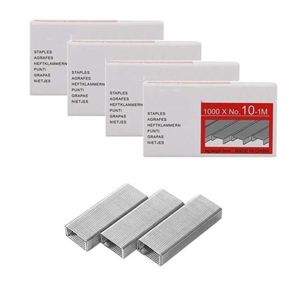 Racdde Pack of 4000PCS No.10 Mini Staples(Smaller Than Standard Staples) .Silver