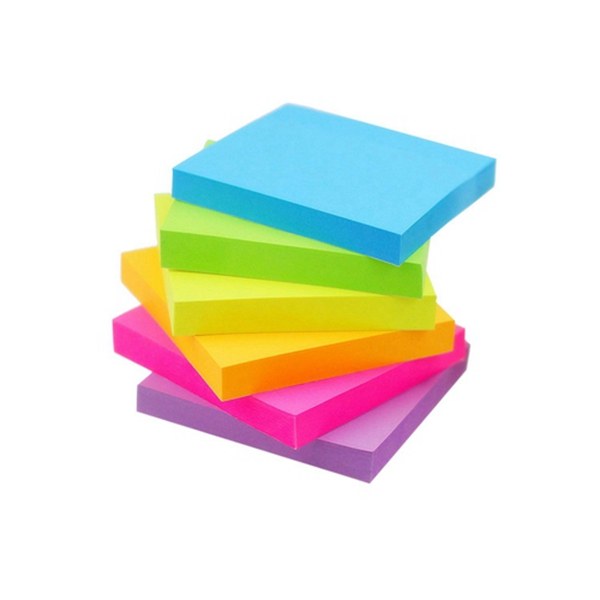 Racdde Sticky Notes 6 Bright Color 6 Pads Self-Stick Notes 3 in x 3 in, 100 Sheets/Pad