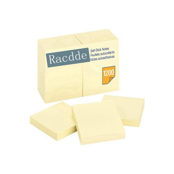 Racdde Notes, 3 x 3 Inch, Yellow, 12 Count (6549)