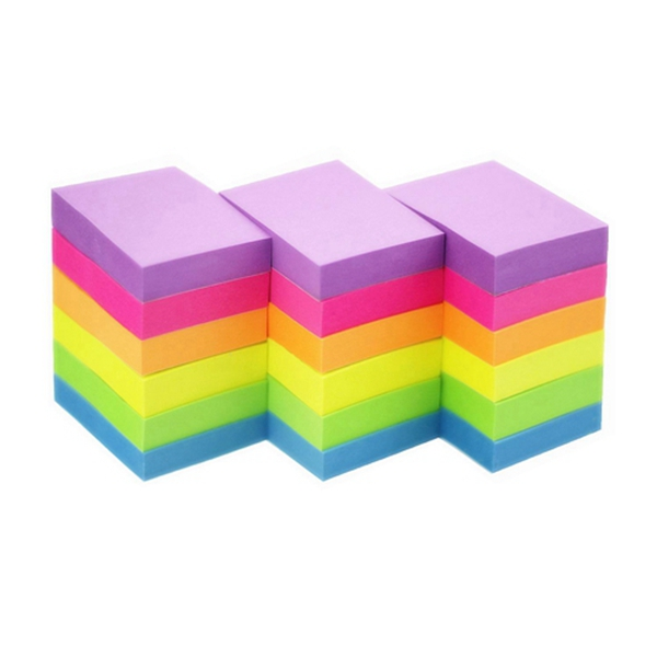 Racdde Sticky Notes 1.5 x 2 Self-Stick Notes 6 Bright Color 18 Pads, 100 Sheets/Pad (6 Bright)