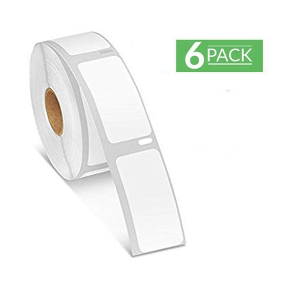 """Racdde 30336 Labels DYMO Multipurpose Address Barcode Labels 1""""x2-1/8"""" Compatible with DYMO Labelwriter 400 450 Turbo Labels, 6 Rolls for 3000 Labels"""