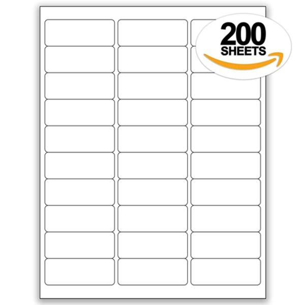 """Racdde 200 Sheets of Address Labels 1"""" x 2-5/8"""" 30up 6000 Labels 5160 5260 5960 FBA by Office Labels"""