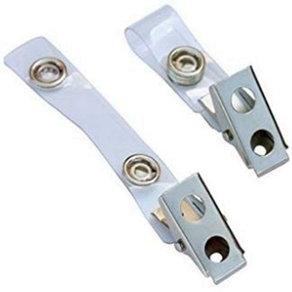 Racdde Metal Badge Clips with PVC Straps - 100/pack (100)