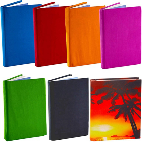 Racdde Stretchable Book Cover Solid Color 6 Pack Plus Aquarium Print. Fits Hardcover Textbooks 9 x 11 and Larger. Reusable, Adhesive-Free, Fabric Protectors are A Needed School Supply for Students