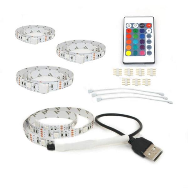 Racdde Lighting TV Led Strip Lights 6.6Ft/2M for 40-60 in TV, USB LED Strip for TV Backlight, RGB LED Strip Kit with Remote - 5050 LEDs Light Strip for HDTV