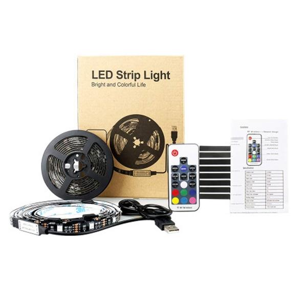 Racdde Led Strip Lights 6.5ft USB TV LED Backlight Dimmable Bias Lightning for 32-60in TV with Remote 20 Color【Upgrade】