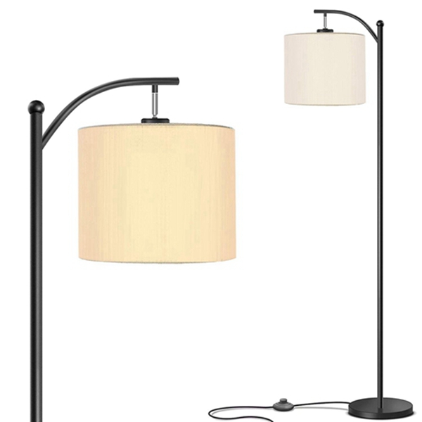 Racdde Floor Lamp for Living Room with Lamp Shade and 9W LED Bulb - Modern Standing Lamp - Floor Lamps for Bedrooms