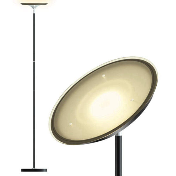 Racdde LED Torchiere Floor Lamp Standing lamp:Tall Standing Modern Pole Light 1800 Lumens for Living Rooms & Offices - Dimmable Uplight for Reading Books in Your Bedroom - Black