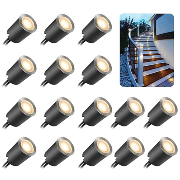 Recessed LED Deck Light Kits with Protecting Shell φ32mm,Racdde In Ground Outdoor LED Landscape Lighting IP67 Waterproof, 12V Low Voltage for Garden,Yard Steps,Stair,Patio,Floor,Kitchen Decoration
